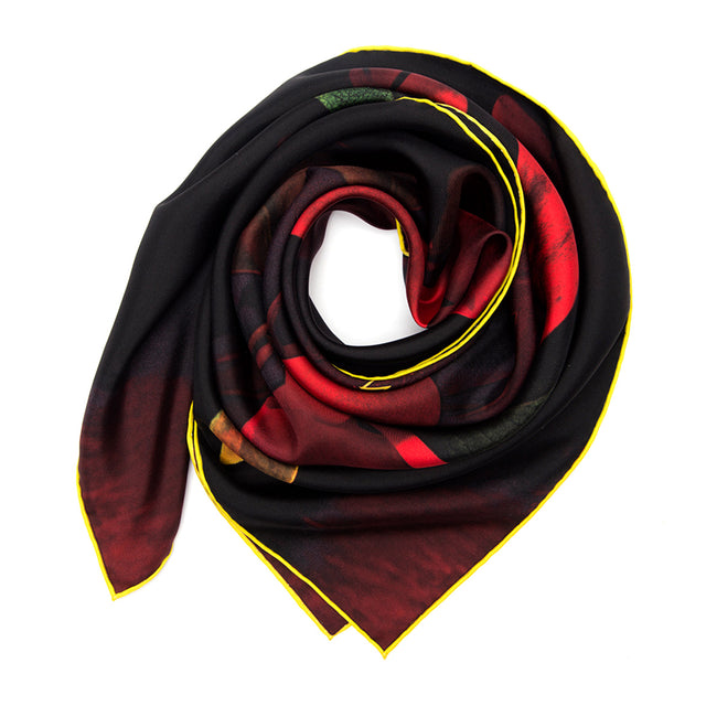 SILK SCARF RED RAIN