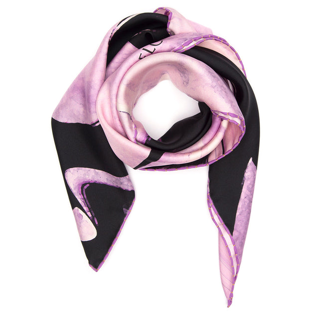 NEW! SILK SCARF BROKEN FLOWERS