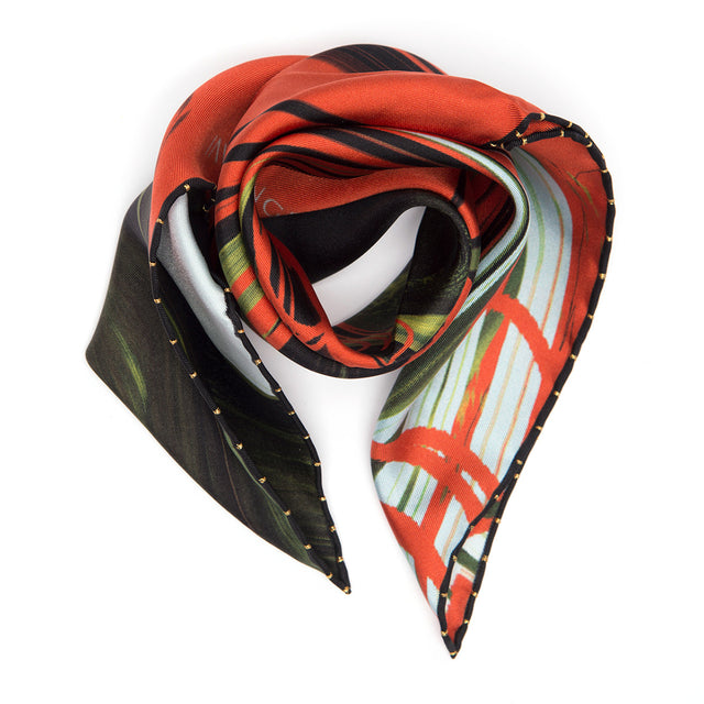 NEW! SILK SCARF HUMAN