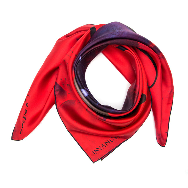SILK SCARF ECLIPTICA BY RICHARD TEXIER.