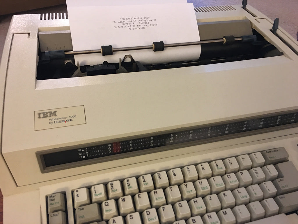 IBM Wheelwriter Typewriter
