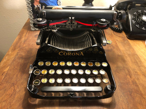 *Refurbished Folding Corona 3 Typewriter