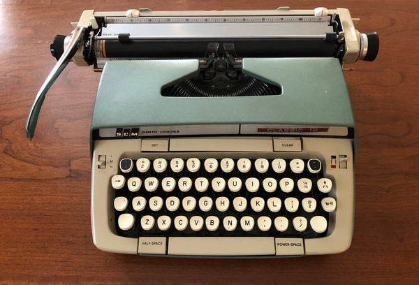 *Refurbished Green Smith-Corona Classic 12 Typewriter with Warranty—Unique typeface!