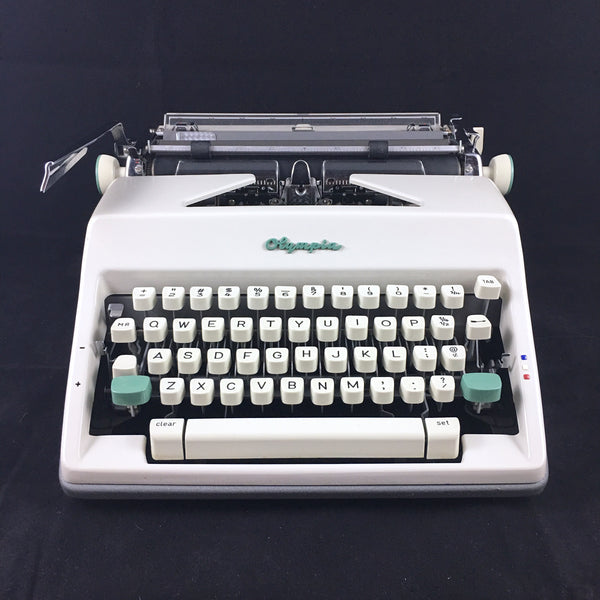 Refurbished Olympia SM9 Typewriter - Green Logo