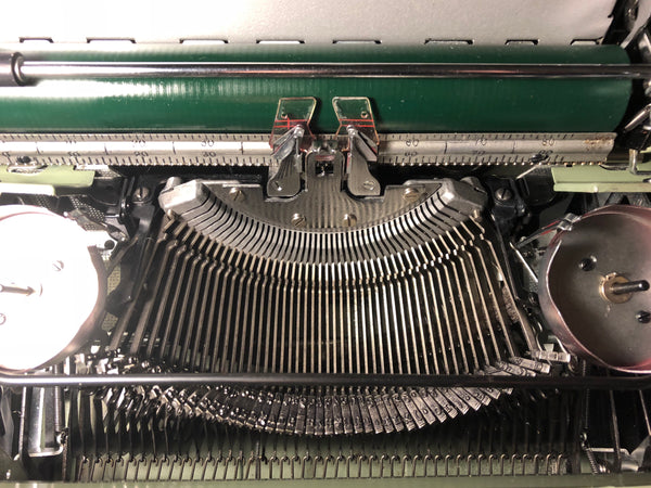 *Refurbished Green Smith-Corona Super Sterling Typewriter with Warranty