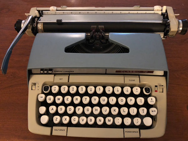 *Refurbished Blue Smith-Corona Classic 12 Typewriter with Warranty