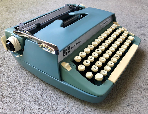 *Refurbished Blue Green Smith-Corona Super Sterling Typewriter with Warranty