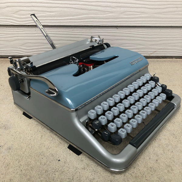 *Refurbished Blue Torpedo 18B Typewriter