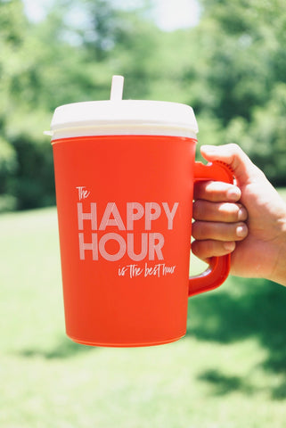 The Happy Hour is The Best Hour insulated 32 oz mug