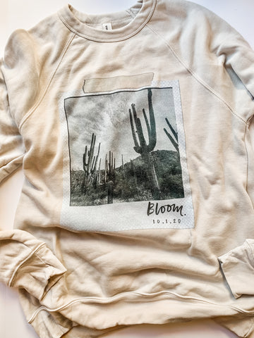 BLOOM polaroid sweatshirt