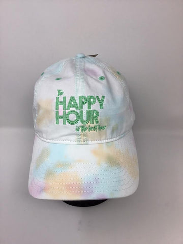 The Happy Hour Is The Best Hour tie-dye hat
