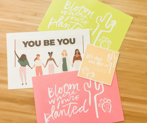 Set of 3 You Be You postcards