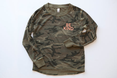 BE KIND - Camo Sweatshirt