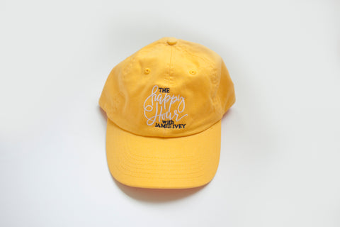 "Happy Hour  ""Dad Hat"" - Yellow"