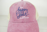 Happy Hour Hat - Faded Red