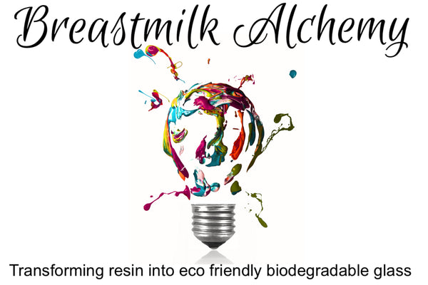 breastmilk alchemy resin into glass