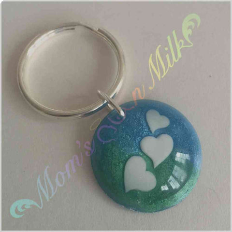 30 mm Circle Design Keyring Single Inclusion: Own Design - Mom's Own Milk