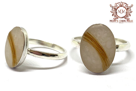 Glass and Inlay Rings
