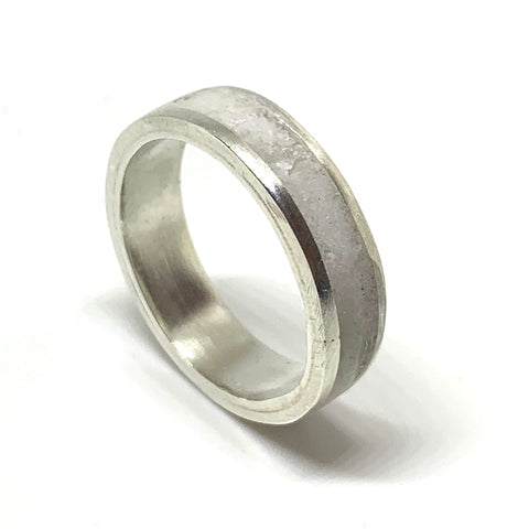 Unisex Inlay Ring - Sterling Silver