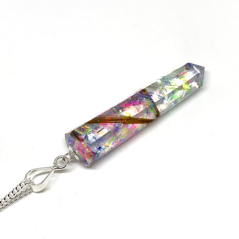Crystal Point Pendant - Sterling Silver (Resin)