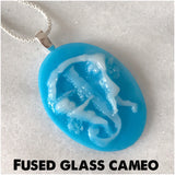 Fused Glass Cameo Pendants (FGP) - Mom's Own Milk