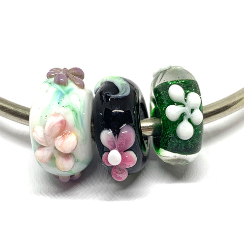 3D Beads and Charm Bead - Glass