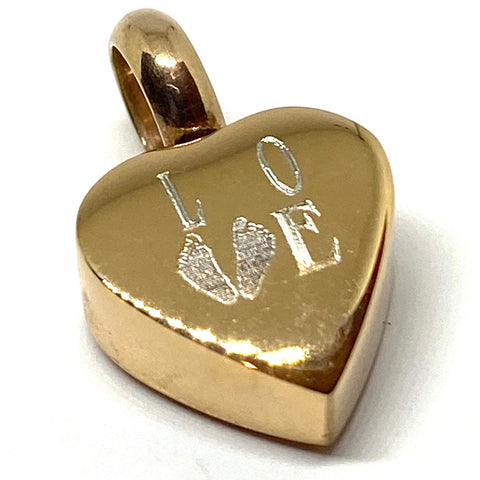 Engravable Small Heart Keepsake Charm Kit