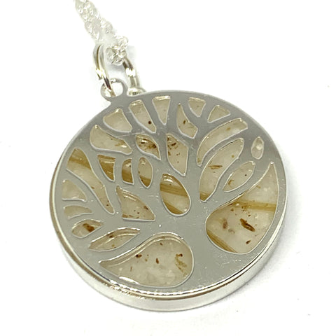 Glass and Inlay Tree of Life Pendants