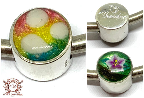 Charm Beads - Sterling Silver (Resin)