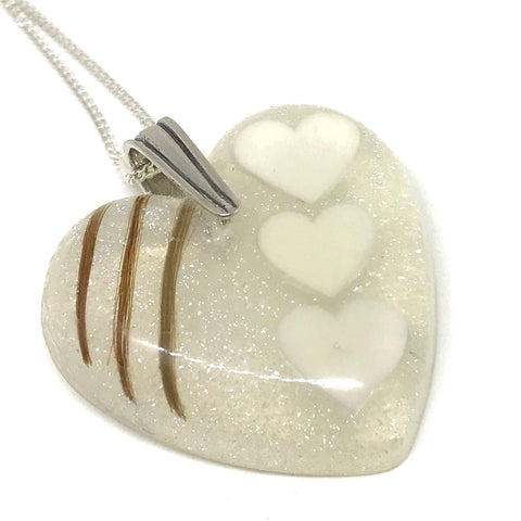 Moulded Heart Resin Pendant
