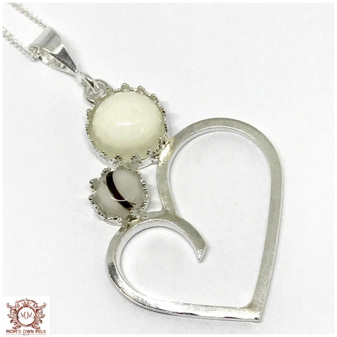 Mother & Child Crown Pendant- Sterling Silver