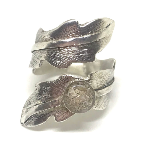 Spiral Ring - Sterling Silver (Resin)