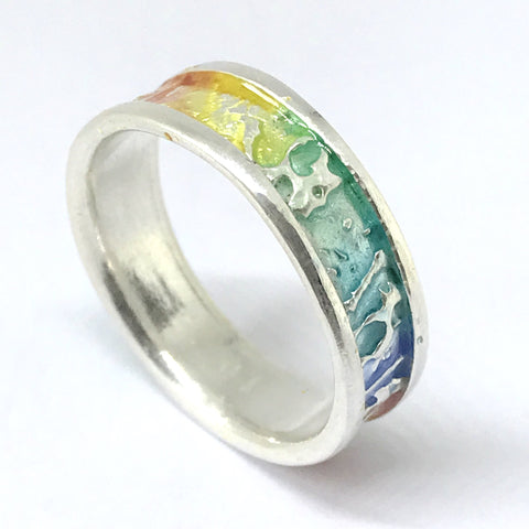 Enamelled Ring - Fine Silver
