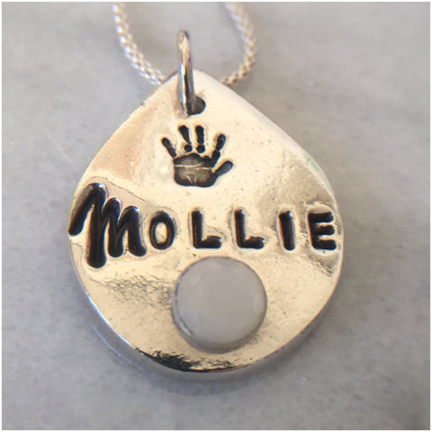 Fine Silver Pendant:  Own Design (PFS) - Mom's Own Milk