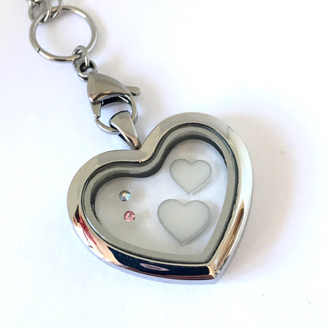 Glass Memory Locket - Heart (Resin)