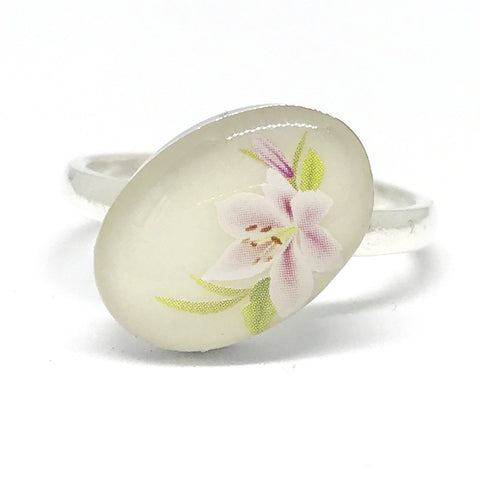 Ring - Sterling Silver - Oval (Resin)