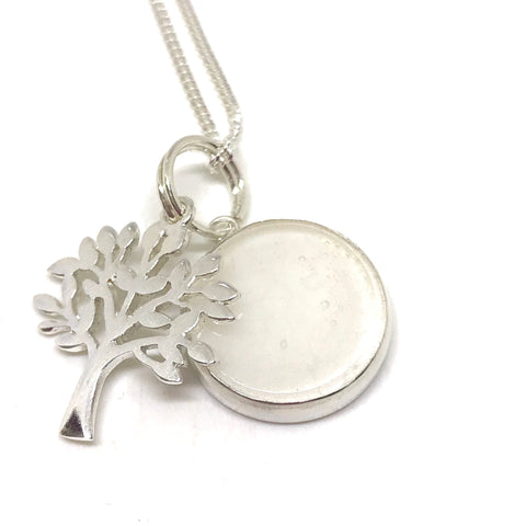 Glass Tree of Life Pendant - Sterling Silver