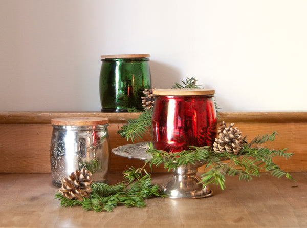 Holiday Drama Mercury Barrel Candle in Red