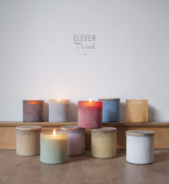 The River Rock Candle in Orange