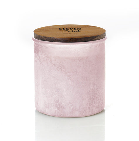Tree Farm River Rock Candle in Blush