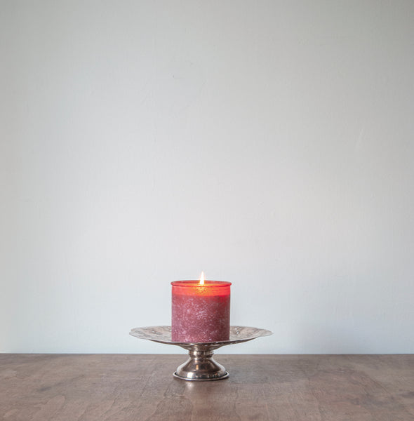 The River Rock Candle in Red