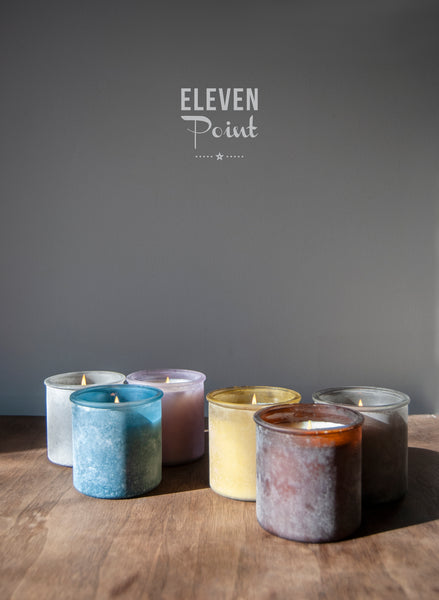 The River Rock Candle in Denim