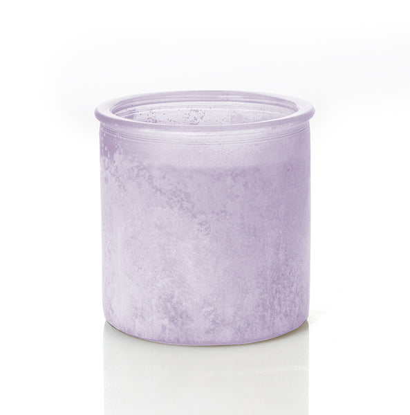 Almond Bark River Rock Candle in Fresh Plum
