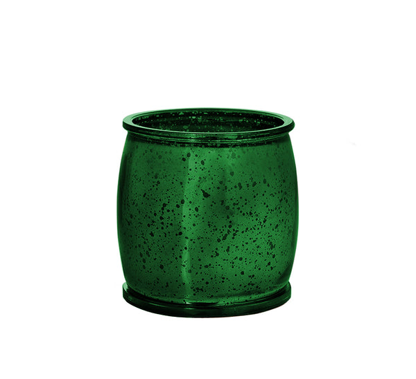 Morning Dew Mercury Barrel Candle in Green