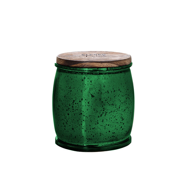 Happy Camper Mercury Barrel Candle in Green