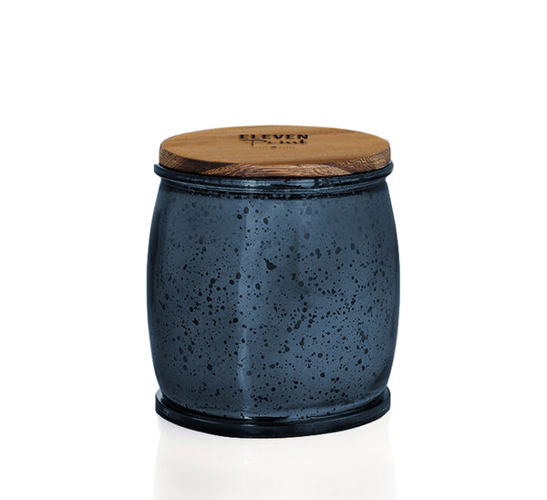 The Mercury Barrel Candle in Navy