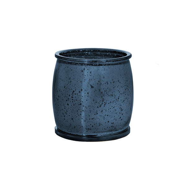 Wildflower Mercury Barrel Candle in Navy