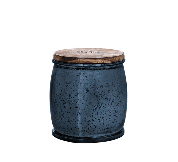 Holiday Drama Mercury Barrel Candle in Navy