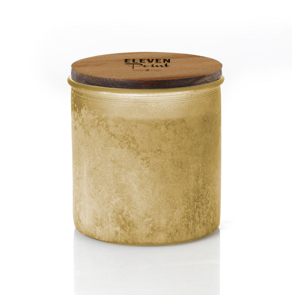 Jack Frost River Rock Candle in Olive