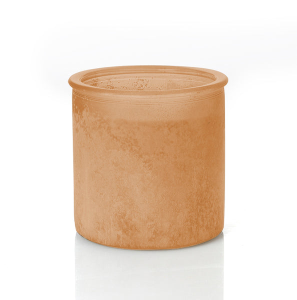 Almond Bark River Rock Candle in Orange